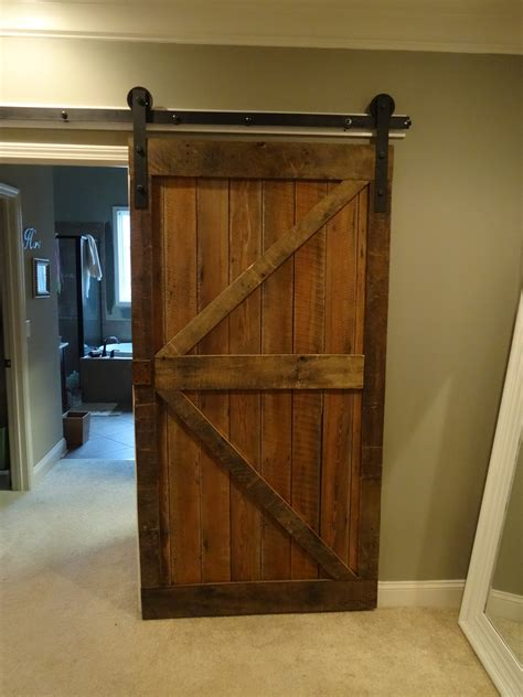 Fascinating Barn Wood Sliding Single Rustic Doors For Interior Barn Door Ideas