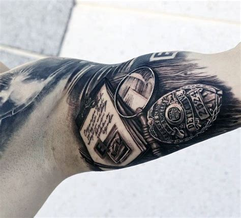 50 police tattoos for men law enforcement officer design