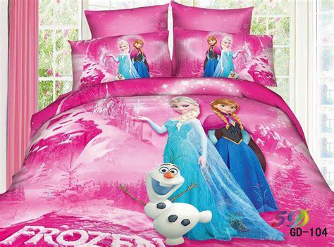 Frozen Bed Sets 3d Frozen Elsa Snowman Bedding Sets King Size 100 Cotton Fabric Quilt Duvet Cover