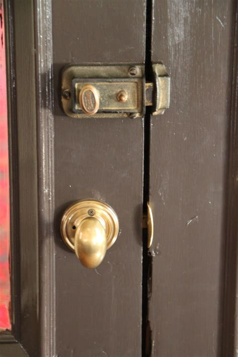 How To Take Apart A Door Knob Lock by Exit Doors Locked This Existing Mortise Knob Was