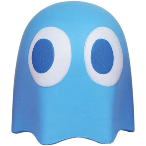 inky blue pac man ghost stress ball blue inky