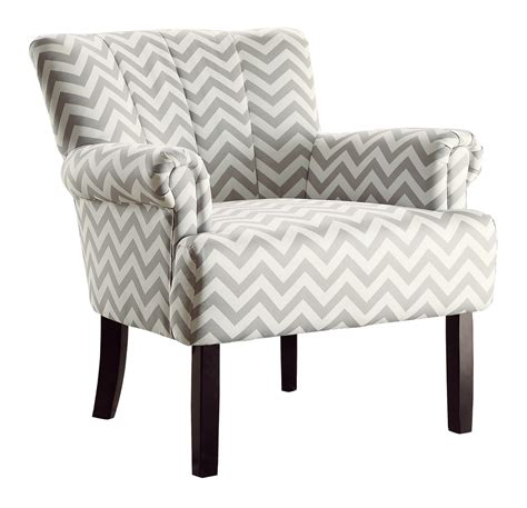 Chevron Accent Chair Homelegance Langdale Accent Chair Grey Chevron 1212f4s At Homelement