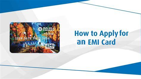 how to apply for an emi card emi finance bajaj finserv