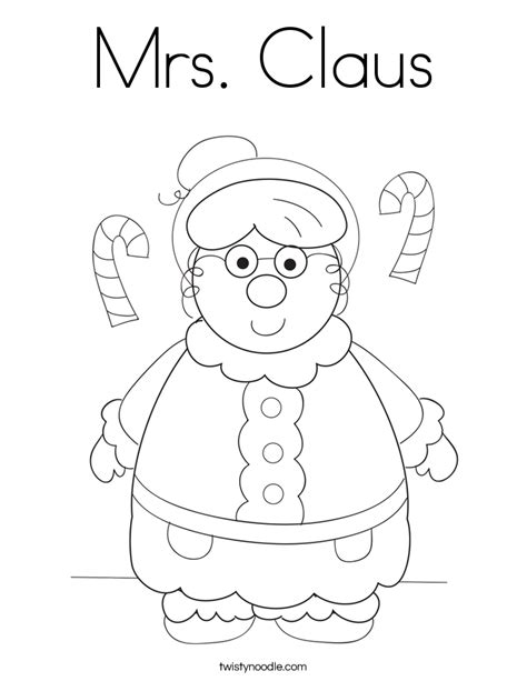 coloring pages of santa and mrs claus mrs claus coloring page twisty noodle