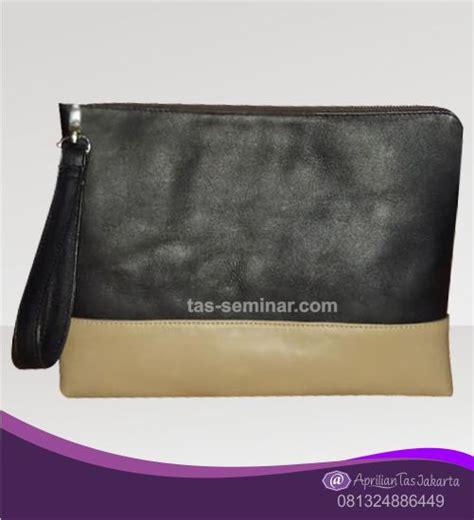 tas seminar pounch bag tanggulangin kulit sintesis hitam