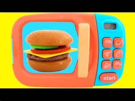 toy microwave hamburger playset play doh learn fruits