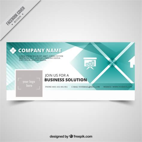 Company Profile Cover Design Vector | company facebook cover in elegant design vector free