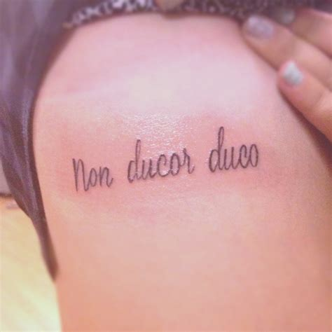 non ducor duco tattoos designs 30 quote ideas