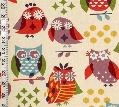 owl upholstery fabric hippie owl fabric modern fabric other by brick