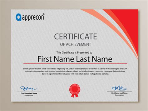 corporate certificate template 10 sets of free certificate design templates designfreebies
