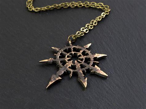 large warhammer 40k chaos ancient pendant