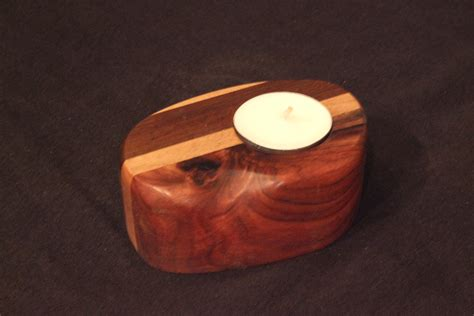 Handcrafted Wood Items - tea candle woods handmade wood products by
