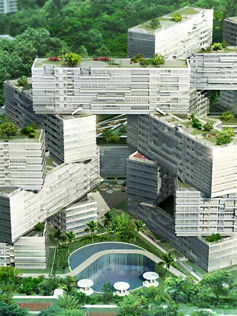 the amazing interlace housing complex in singapore oma the interlace residential complex singapore