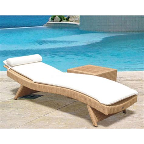 sun bed wave sun bed chaise lounge by royal teak collection family leisure
