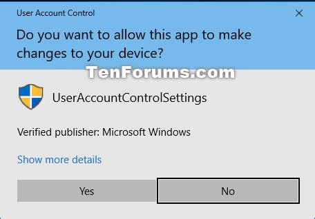 windows 10 administrator tutorial change user account control uac settings in windows 10