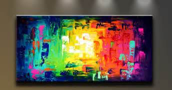 Oil painting abstract modern art on canvas home decor mixed colors