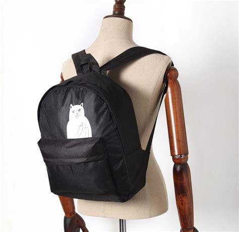Tas Ransel Kucing tas ransel wanita motif kucing black jakartanotebook