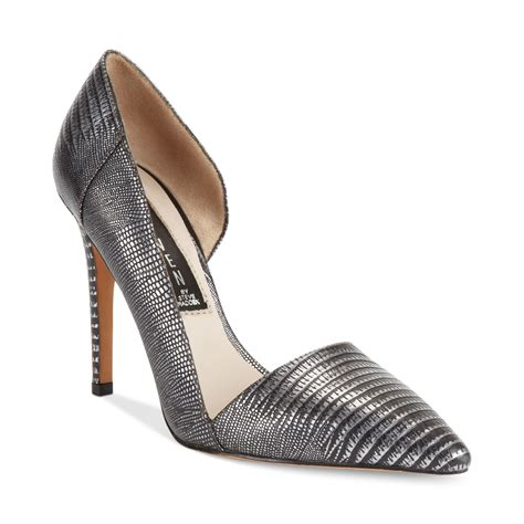 pewter colored heels lyst steven by steve madden walker pumps in metallic