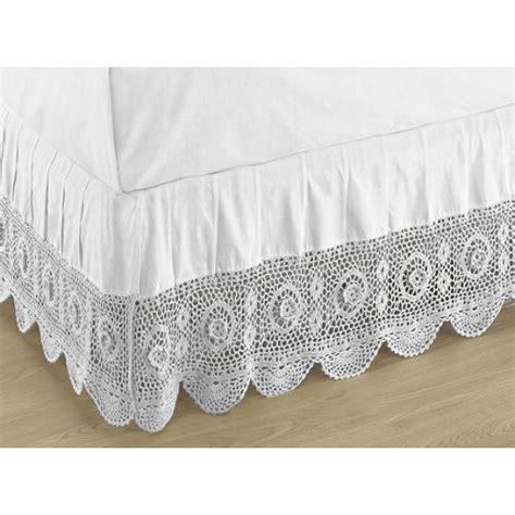 queen bed skirts lace bedskirts queen bed crochet skirt compare prices reviews and buy at