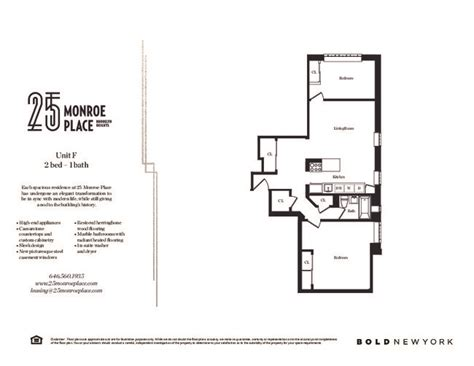 floor plans for 55 monroe place apartments located in 25 monroe pl rentals brooklyn ny apartments com