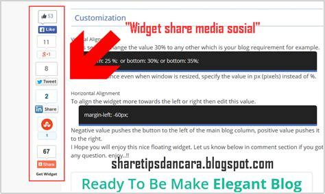 cara membuat widget jam di blog wordpress cara mudah membuat widget floating share media sosial
