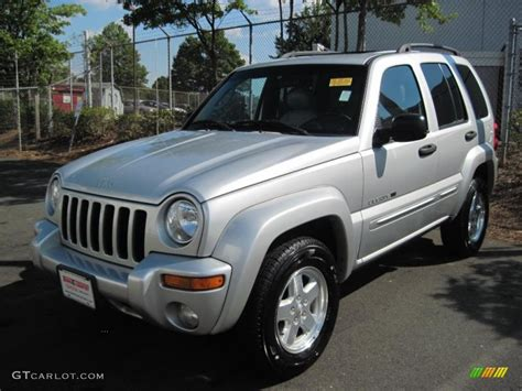 jeep liberty silver 2002 bright silver metallic jeep liberty limited 35999282