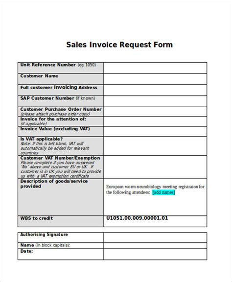 invoice request form sales invoice vs official receipt
