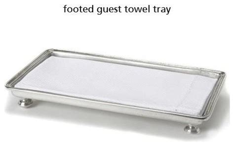 Guest Bathroom Tray Footed Guest Towel Tray Traditional Bathroom