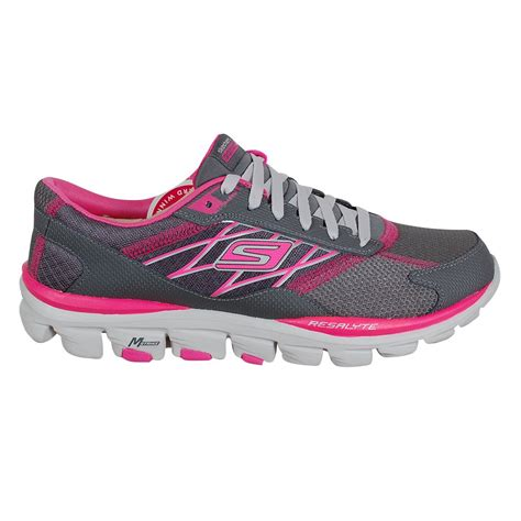 skecher running shoes skechers gorun ride 2 s running shoe grey and pink