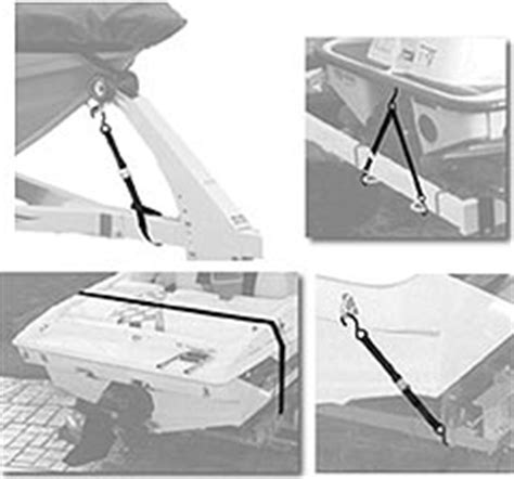 bow of boat bouncing on trailer boat tie down straps gunwale transom bow at trailer