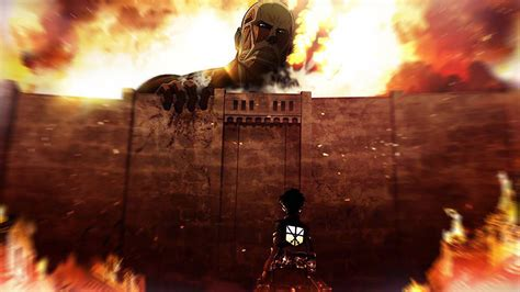 ah attack  titans illust anime art papersco