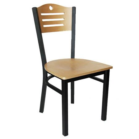 Black Metal Bistro Chairs Black Metal Frame Chair With Wood Back And Seat
