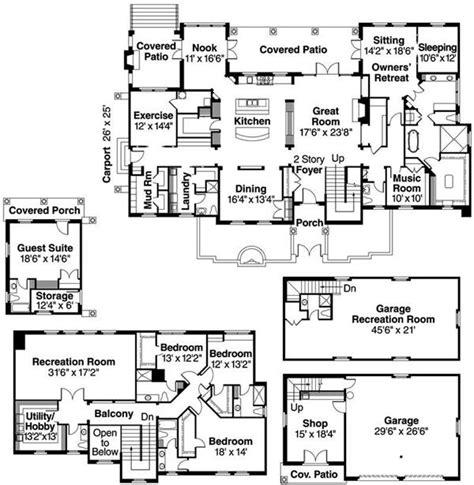luxury mediterranean european in law suite house plans