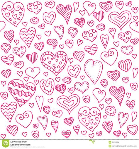 love pattern background vector love hearts seamless pattern doodle heart romantic