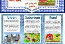 communities rural suburban urban worksheets and activity