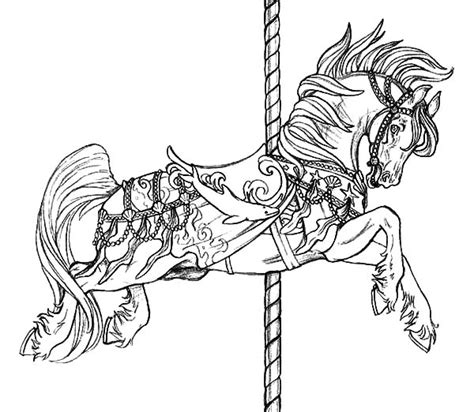 free coloring pages of carousel horses free carousel coloring pages