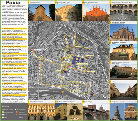 maps pavia pavia sightseeing map