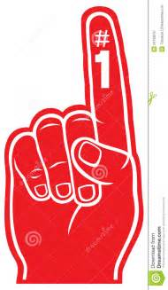 red foam finger royalty free stock photography image