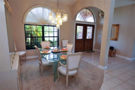 Dining Room At Front Entry Cape Coral Waterfront Home Cape Coral Vacation House