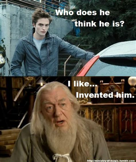 Who Invented Memes - i like invented him harry potter vs twilight photo