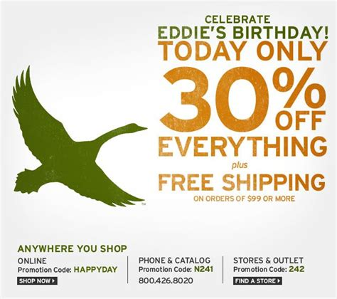 Eddie Bauer Gift Card Balance - deal eddie bauer 30 off entire purchase oct 13th only canada flyers coupons deals