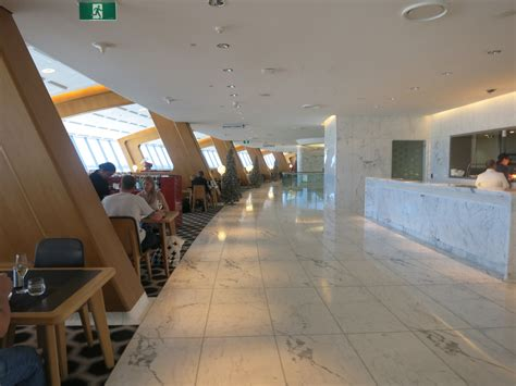 review qantas  class lounge sydney view   wing