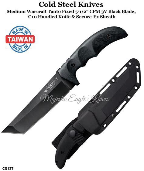 Cold Steel Knives Cs13t Medium Warcraft Tanto Fixed 5 1 2