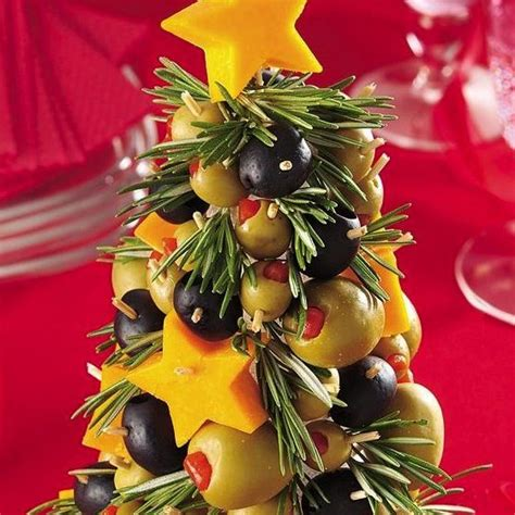 christmas tree snack by pilsbury cheese olive appetizer tree recipe cheese tree appetizers food