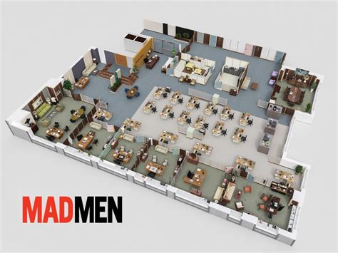 mad men floor plan 3d maps show floor plans of tv shows insider