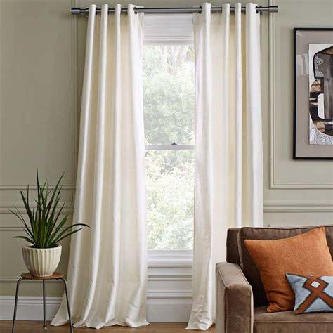 west elm curtain panels silk grommet window panel west elm curtains