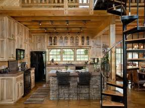 log cabin kitchens images pinterest