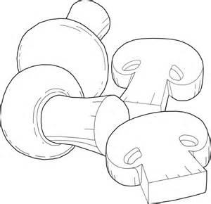 Mushrooms Outline Clip Art At Clkercom  Vector Online sketch template