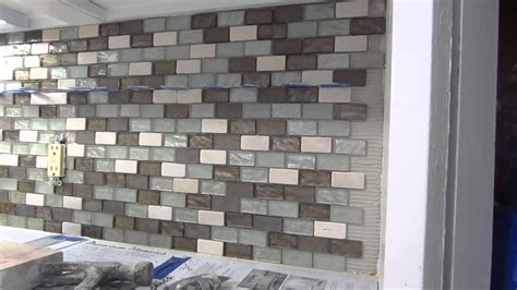 Glass Backsplash For Kitchen by Glass Mosaic Tile Instalation Time Lapse Youtube