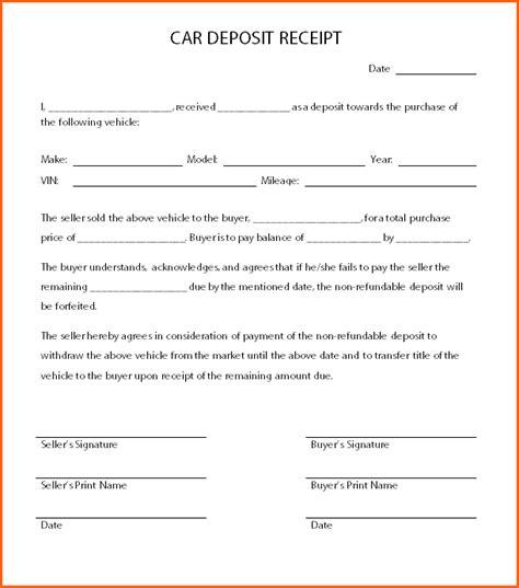 4 down payment receipt   Budget Template Letter